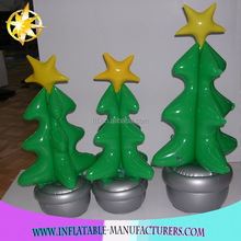 PVC Small Inflatable Christmas Xmas Tree Indoor ,happy new year decoration Suppliers.