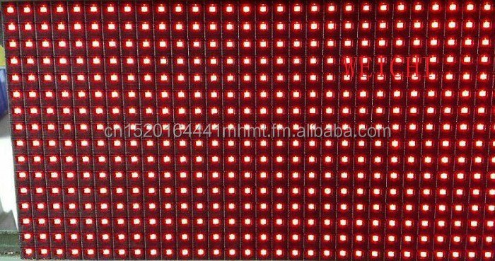WEICHI 2018 16X32 P10 1R Red Single Color LED Module display with Pitch 10mm p10 1r -v701c