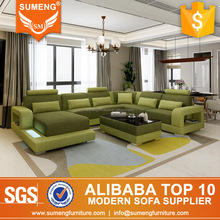SUMENG American design green sofa liner fabric