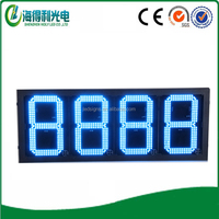 Dongguan high quality hot sale 7 segmen display high bright double side gas station pole sign