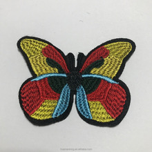 A beautiful butterfly embroidered patch for women's shoes