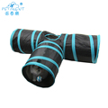 Pet Cat Accessories T Style Cat Play Toy Cat Tunnel For Outside With Funny Pet Ball
