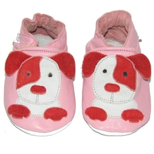 soft sole baby shoes - Krabbelschuhe - UMS Puppy pink