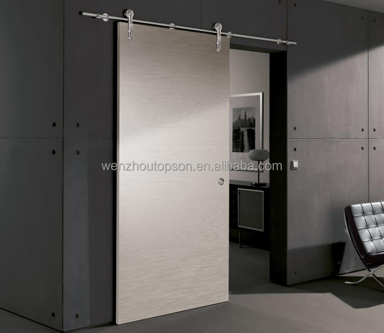 Elegant stainless steel barn door hardware/sliding door system