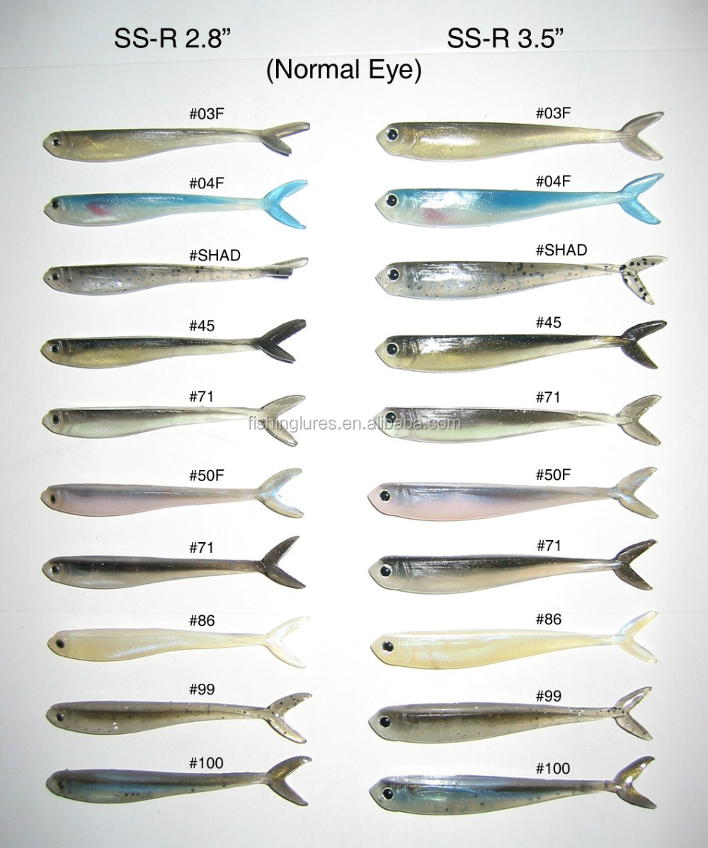Attractive colors shad baits, fishing lures