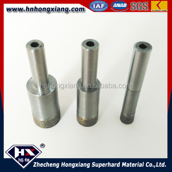 Straight shank Diamond core drill bit for glass tile cutting hole saw bit water cooling