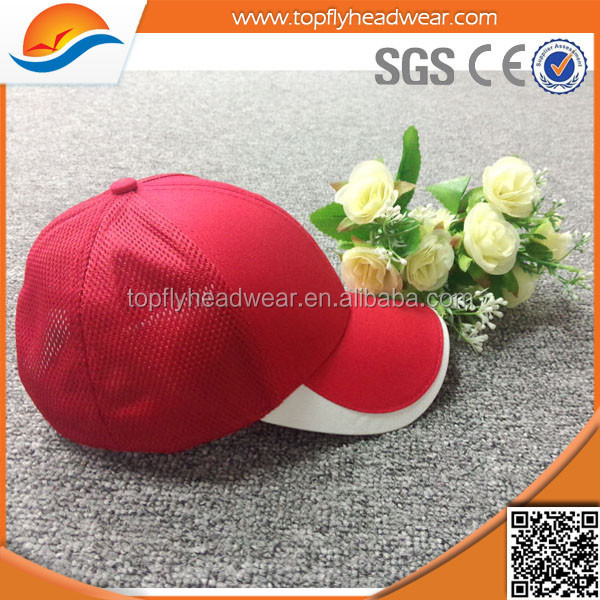promotional 6 panel blank mesh baseball cap without logo wholesale sports hat