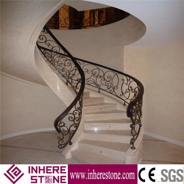 Polished surface staircase designs for marble