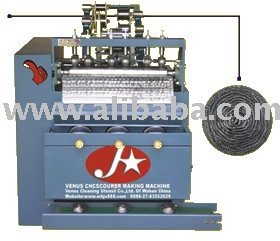 Full-Automatic Scourer Making Machine For Spiral Scourer Galvanized Scrubber Stainless Steel Pot Scourer