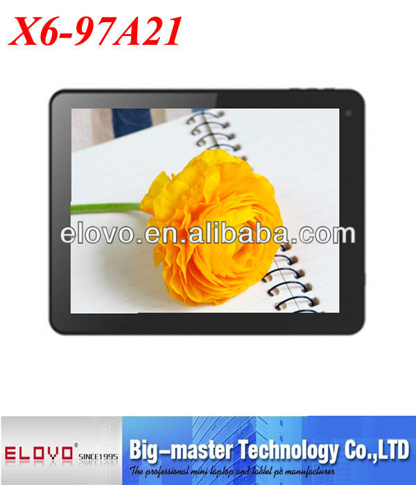 cheapest 9.7 Inch fast speed dual core Android 4.1 support Hdmi Long Standby Time Android Tablet P