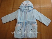Wholesale home textile dress 100% cotton kids animal bathrobe