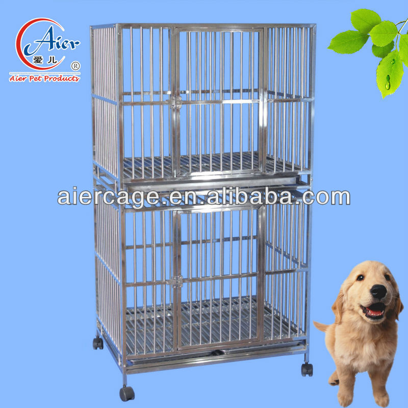 high double modular dog cage kennel crate for sale