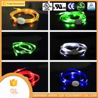 led flashing lights shoe elastic shoe laces, sport led shoelace on hot sell
