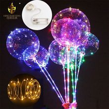 Custom Glowing LED Bobo Plastic Bubble Transparent Balloon Ballon inflatable led helium balloon