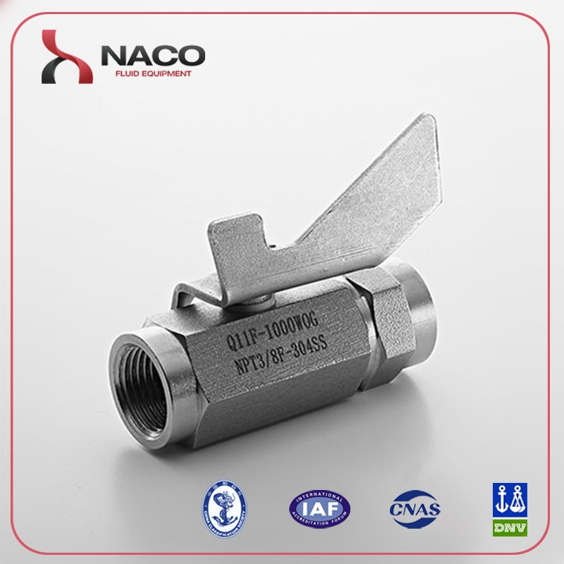 "SS 304 3/8"" NPT Female Ball Valve cf8m 1000 wog"