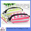 Osni Candy zipper cotton stripe pencil bag with for girls