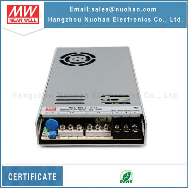 Meanwell power supply NEL-400-5 5v 80a 400w led driver