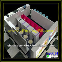 2013 New style hot selling Acrylic wooden Cosmetic Display Showcase, cosmetic showcase stand