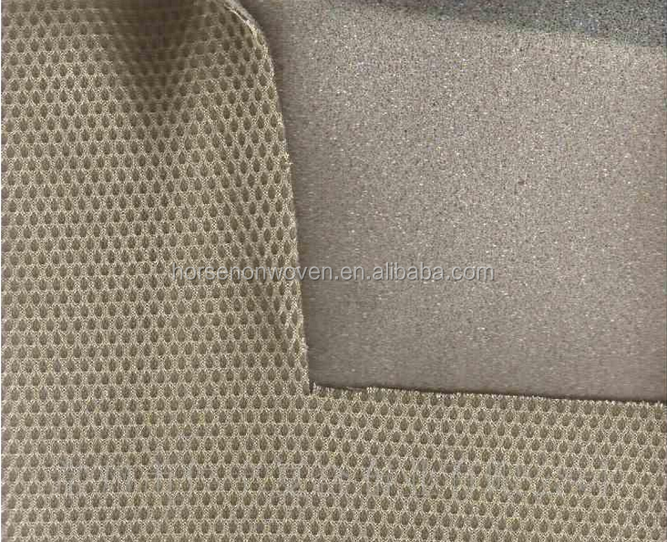 Nylon jacquard fabric knitted flame lamination Sponge compound fabrics foam+meshing