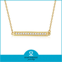 AAA grade CZ 18k plating simple gold chain necklace