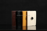 360 degree rotation leather filp case for blackberry playbook