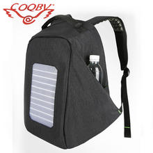 COQBV 2017 wholesale usb charger sun power back pack bag panel solar backpack bag with powerbank
