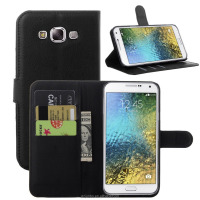 Factory Price leather flip case for samsung galaxy e7 in stock