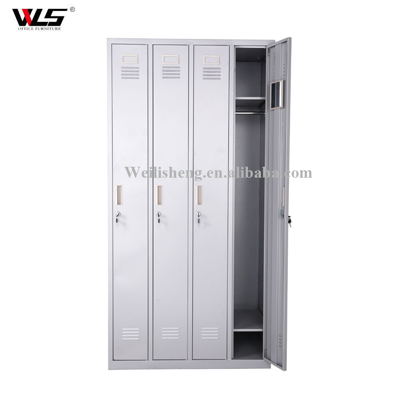 metal bedroom cupboards design / steel clothes locker 4 doors