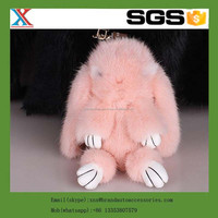 best quality low price rex rabbit fur pompons keychain fur auto hangingrex rabbit fur hanging car air freshener