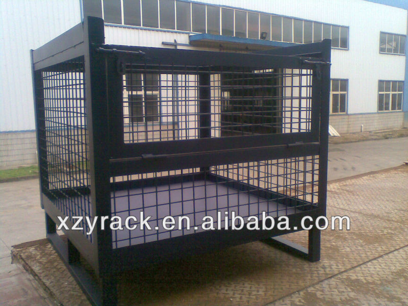 Warehouse Mobile Security Storage Liquor Cage With Coaster Mesh Box Wire  Cage Factory Supplier