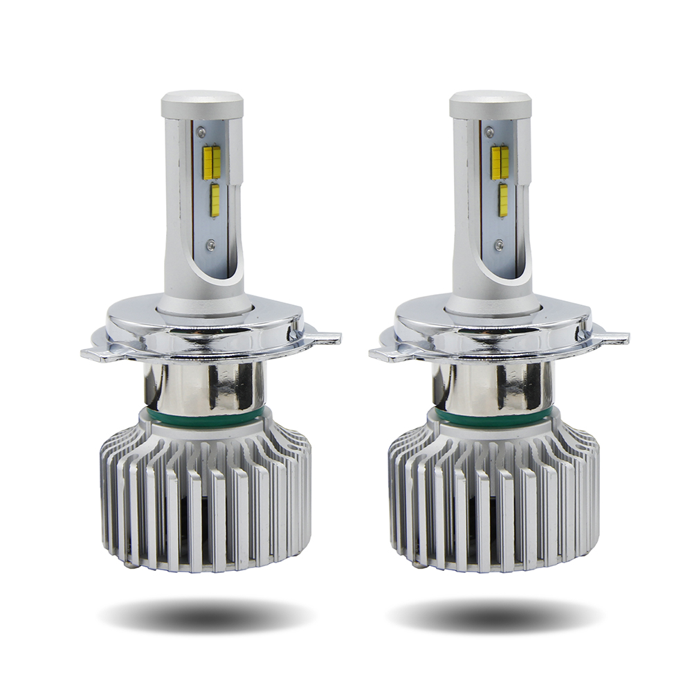 Dual Color 6000k 4300k canbus Aluminum Body H4 H7 Auto car <strong>led</strong> headlight with Seoul CSP