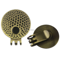 25.4mm Magnetic Antique Brass Plating Golf Hat Clip & Visor Cap Clip Cheap Wholesale