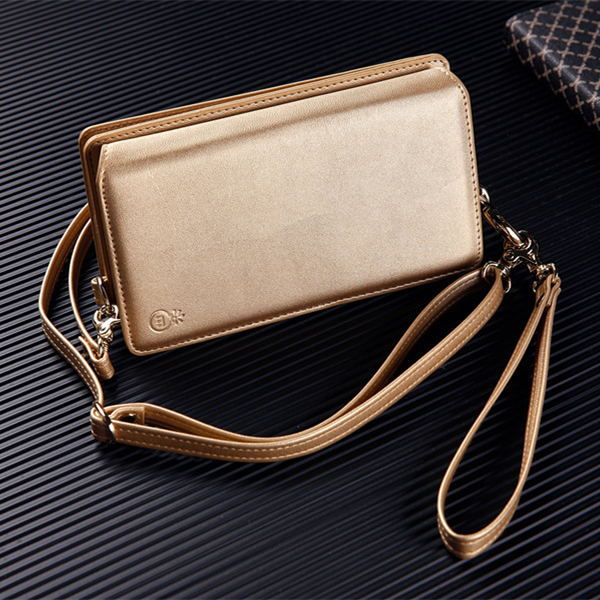 MUSUBO Multifunction Leather Ladies Handbag Purse Style Luxury Cover for iPhone 7plus Case Cover