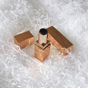 The factory offers a rose gold bright side cuboid empty lipstick tube