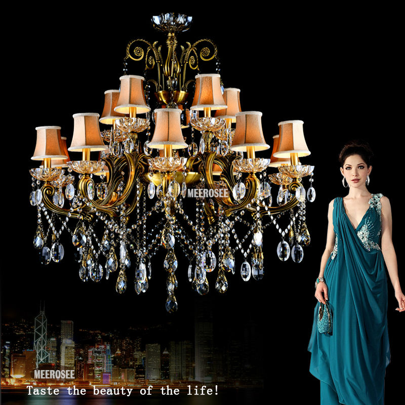 2014 Crystal Chandelier Antique Pendant Lamp Maria Theresa Outdoor Light Fixture MD8504 L10+5