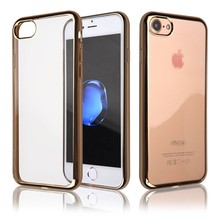 C&T Rose Gold Frame Electroplate Soft Slim Cell Phone Case for Iphone 7