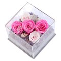oem design box display flowers gift clear acrylic flower pots
