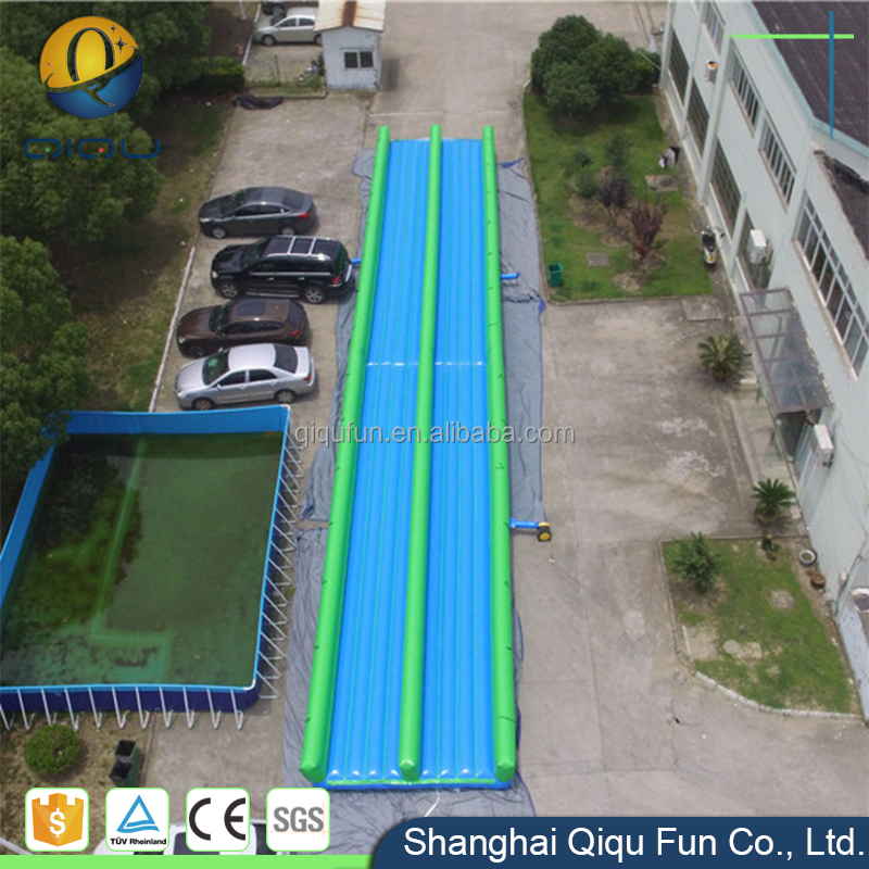 Commercial grade color customized adult pool water slip and slide slip city with single or double lane
