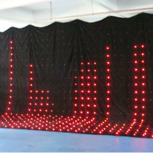 soft led video curtain/ led star vision curtain/led curtains for stage backdrops