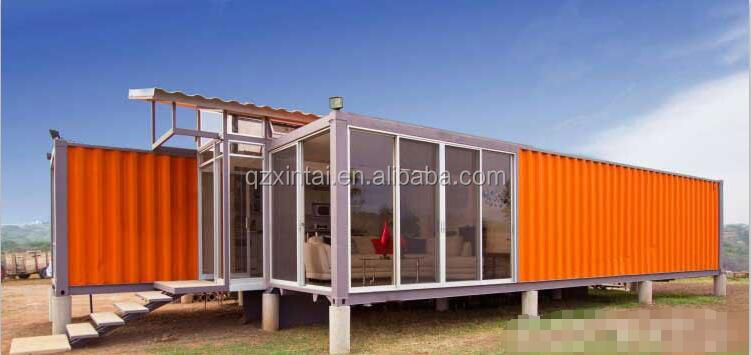 With expandable container house and unique sandwich panel house prefabricated house villa designs