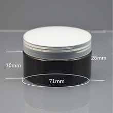 30g Black container Plastic Cream Jar,1oz plastic Cream container with plastic or metallic lids