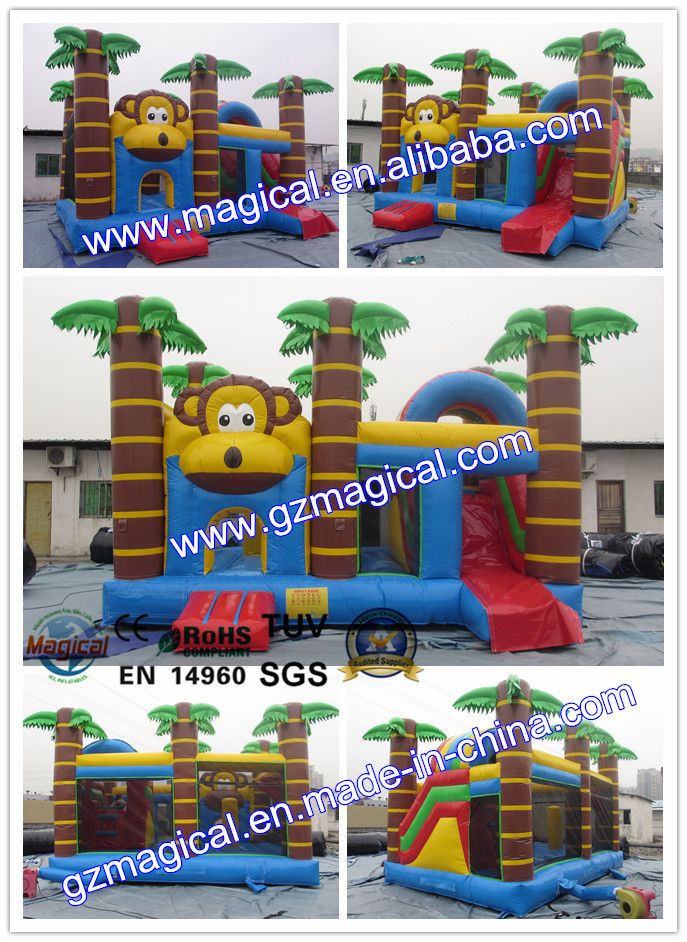 Hot sale big inflatable Monkey bounce house / inflatable castle for sale