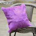 CX-D-05F Soft and Cheap Real Rabbit Fur Pillow / Bolster Pillow