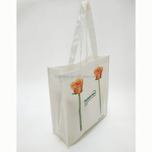 China manufactory custom promotion cheap Rose flowers tote Eco-friendly non woven shopping bag