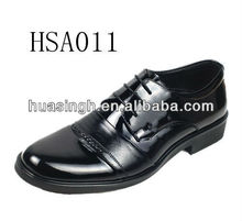 WT, uniform approved Australian style patent leather hi-gloss dress shoes for men