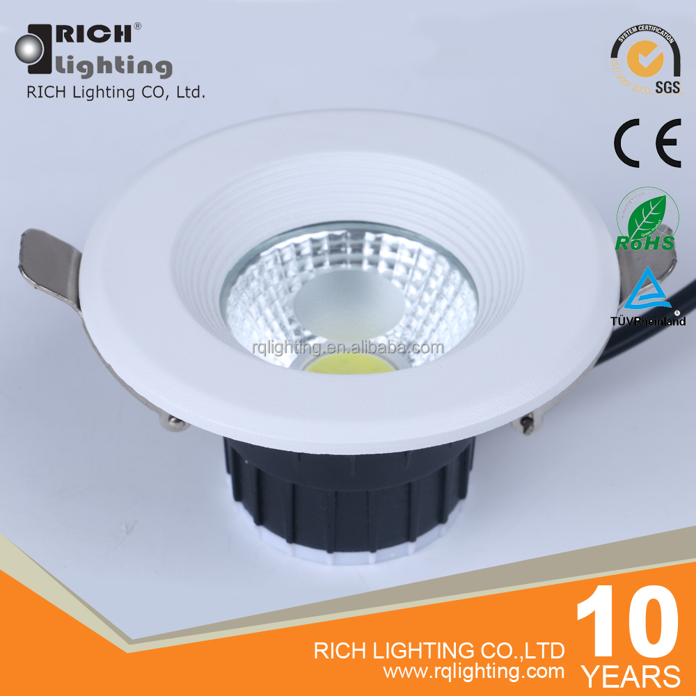Warm white led ceiling light 5W 3inch flush mounted COB led downlight 85mm cut out with CE RoHS