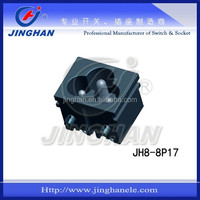 JINGHAN black 10A 220V 110V AC power socket With Fuse switch socket