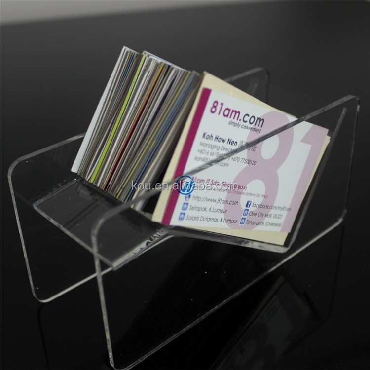China Manufacturer Wholesale Clear Plastic Acrylic Business Card Box