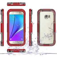 Waterproof Cover for samsung , Waterproof Silicone Membrane Screen Protector+PC Bumper Case for galaxy s7