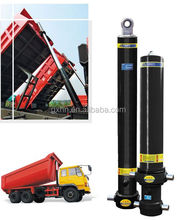 Small Multi stages dump truck hydraulic hoist with power unit